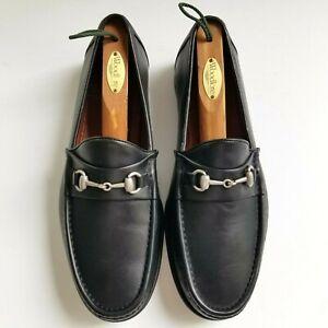 """Allen Edmonds """"VERONA II"""" Italian Men's Dress Loafers Horsebit 10 3E EEE Black"""