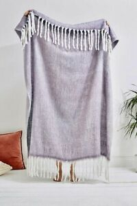 Urban Outfitters Cosy Lilac Purple Throw Blanket