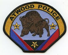 ATWOOD KANSAS KS POLICE PATCH