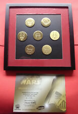 STAR WARS COFFRET BADGES PIN'S SET COLLECTORS ETCHED - SERIE NUMEROTEE - 2005