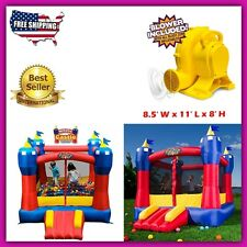 Inflatable Bouncing Castle Slide Top Toddler Toys Outdoor Activities For Kids HQ