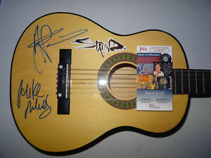"""SIGNED STAIND AUTOGRAPHED 30"""" ACOUSTIC GUITAR AARON LEWIS CERTIFIED JSA LL40317"""