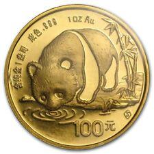 1987-S China 1 oz Gold Panda BU NOT Sealed