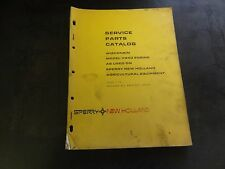 New Holland Wisconsin Model VG4D Engine Service Parts Catalog Manual