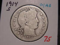 1914-S BARBER QUARTER G AG NICE BETTER DATE COMBINED SHIPPING