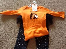 NWT Girls Halloween Auntie's Little BOO 2 piece outfit Newborn, or 3 Months just