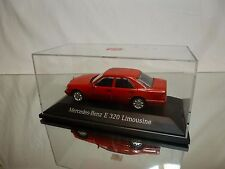 HERPA MERCEDES BENZ E 320 LIMOUSINE - RED  1:43 - GOOD IN BOX