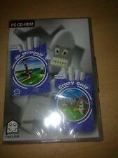 3d MINI GOLF inglese PC Computer Grande Classico CD-ROM NUOVO e SIGILLATO