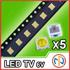 5X LED RETROILLUMINAZIONE TV 2W 6V 3535 ALTA QUALITA'