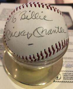 Mickey Mantle Single Signed SS JSA LOA Autograph (personalized) Baseball CLEAN
