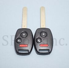 NEW PAIR UNCUT HONDA CR-V FIT KEYLESS REMOTE HEAD MLBHLIK-1T W/ OEM ELECTRONICS