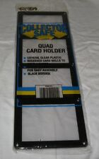 Collector Safe Quad Trading Card Screw Down Holder 4-card screwdown frame