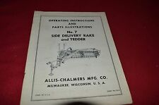 Allis Chalmers 7 Side Delivery Rake Operator's  Dealer's Parts Manual LCPA