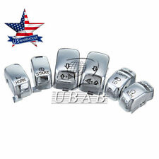6 Pc Hand Control Switch Housing Button Cover Cap Set for Harley 96-13 Chrome US