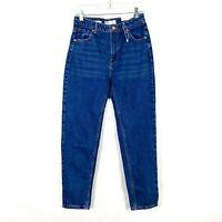 NWT Bershka Denim High Waist Mom Jeans Medium Wash US Size 4 NEW D2124