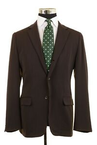 Jil Sander Tailor Made ITALY Solid Brown Twill 100% Wool Sport Coat Jacket 48 R
