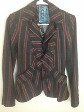 Rare designer Gwen Stefani L.A.M.B. Striped Jacket  from 2009 Collection SZ 0