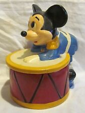California Originals Walt Disney Mickey on a Drum Cookie Jar