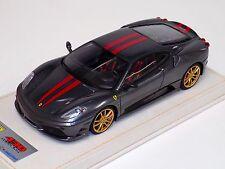 1/18 Looksmart Ferrari F430 Scuderia Grey Silverstone Red / Gold Alcantara