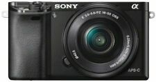 Sony Alpha a6000 Mirrorless Digital Camera with Power Zoom Lenses Bundle