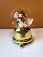 Lillian Vernon Snowman Snow globe Stocking Holder