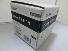 Brand NEW  Sigma 30mm F2.8 DN  Art  Black Lens for Sony E-Mount Cameras