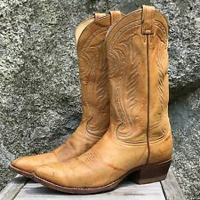 Tony Lama Vintage (Black Label) Marbled Honey All Leather Cowboy Boots 10.5 E