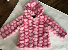 NWT HYPE FAUX FUR PINK HEART COAT JACKET SIZE 4T VALENTINES DAY 4