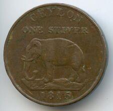 Ceylon - Sri Lanka Georges III Stuiver 1815 km 81