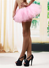 Adult Women Tutu Tulle Skirt Petticoat Dance Rave Neon Party Costume 5 Layers