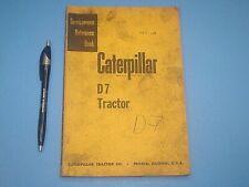 1955 Caterpillar D7 Tractor Dozer Servicemen'S Reference Book Manual