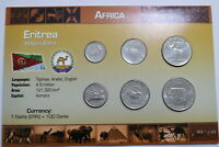 ERITREIA SEALED COIN SET WITH COA A99 CAN28
