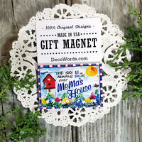 MEMA Gift New Magnetic Fridge Art Magnet Decorative Greetings Inc Decor USA New
