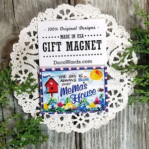 MEMA Gift New Magnetic Fridge Art Magnet Decorative Greetings Inc Decor USA New