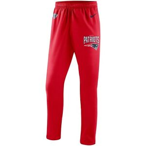 Nike New England Patriots Men's Red On Field Sideline Practice Performance Pants