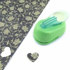 "1"" Heart Hole Punch - Craft Paper Punch - Scrapbooking - 1 Inch 25mm - Lime"