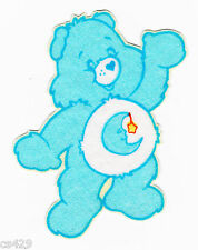 "2.5"" CARE BEARS BEDTIME  BEAR REACHING CHARACTER NOVELTY FABRIC APPLIQUE IRON ON"