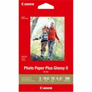 Canon Plus Glossy II PP-301 Inkjet Print Photo Paper - 100 Sheets