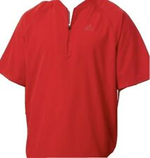 Adidas Mens Triple Stripe Baseball Jacket Coat XL Red