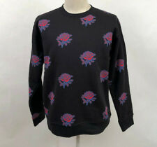 Obey Men's Crew Sweatshirt Thorns Black Size M NWT Shepard Fairey Roses