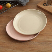 5pcs Wheat Straw Dessert Dishes Eco-Friendly Plates Degradable Safe Dinnerware