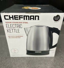 Chefman Stainless Steel Electric Kettle Quickly Heats Water