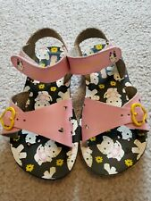 Scetchers Girls Size 10 Pink Kitty Sandals