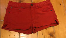 Ladies Fc Jeans Red Shorts