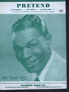 Pretend 1952 Nat King Cole Sheet Music