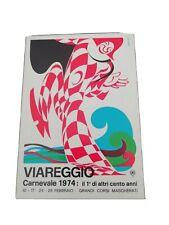 CARTOLINA CARNEVALE VIAREGGIO 1974
