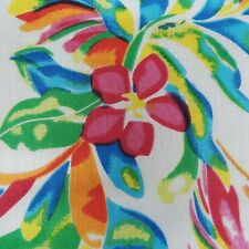 White Floral Fabric 42� Wd Cotton Voile Crafting Dress Material India By Metre