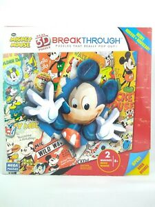 Mega Brands Puzzles Disney Mickey Mouse 3D Breakthrough - New in Sealed Box