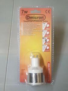 5 x Omicron GU10 7 Watt ENERGY SAVING LIGHT BULB GU10 7w - 40w OMC9080