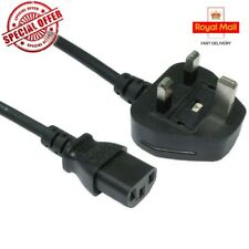 1 Meter Black 3 Pin Kettle lead PC Monitor TV Mains Power Cable Plug UK IEC